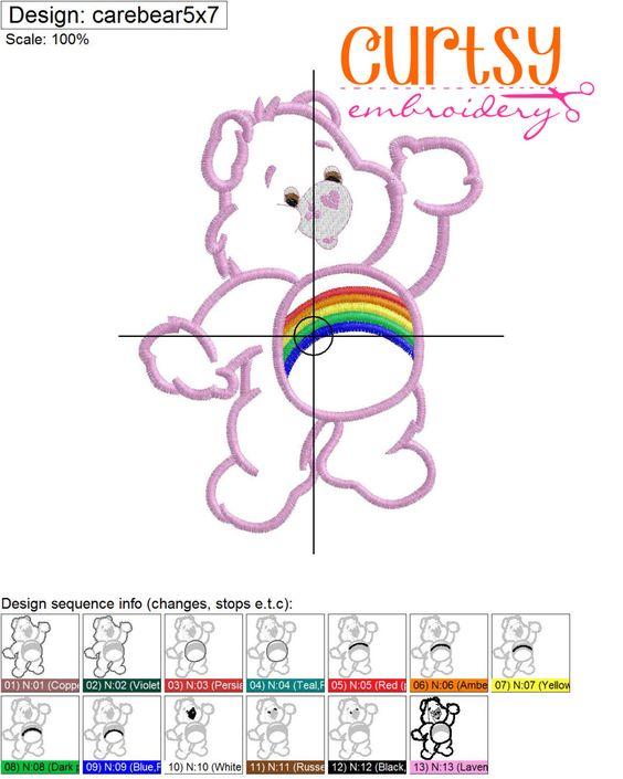 Bear Embroidery Design Bear Applique Design
