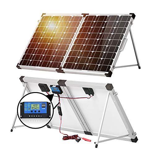 Dokio 100w 50x2 12v Monocrystalline Foldable Solar Panel Portable In 2020 Solar Panels Solar Best Solar Panels