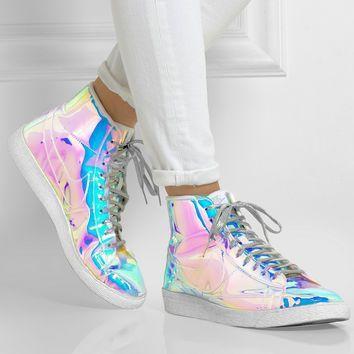 Fashion Adidas Shoes On White Holigraphic