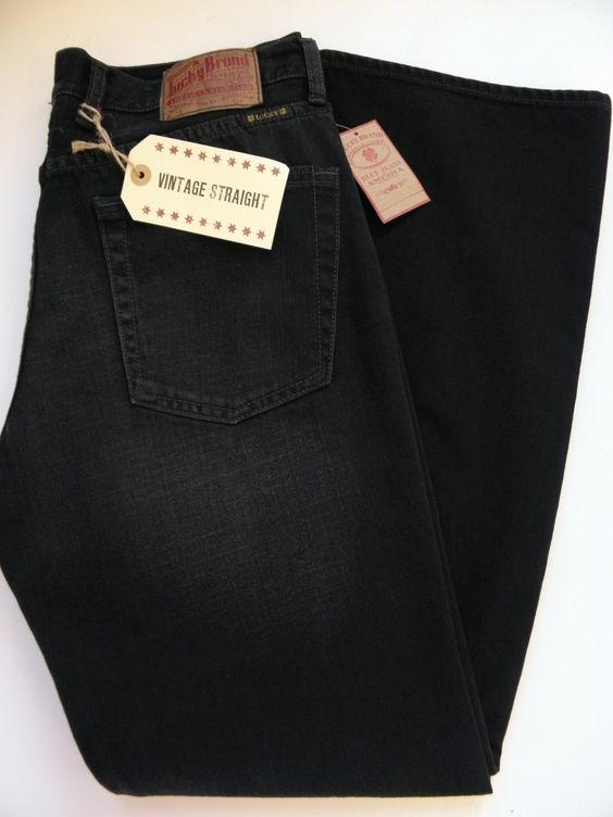 Lucky Brand Vintage Straight Mens Black Jeans T5O - Florida Jean