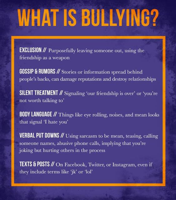 t's not always easy to determine bullying behavior. How do you know if you're the victim of good-natured ribbing or bullying? Hostility and aggression directed towards a victim who is physically or emotionally weaker than the bully are more obvious signs of bullying. This behavior causes pain and distress for the victim.: