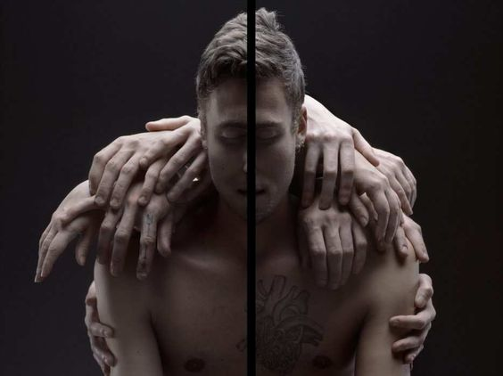 Black Line Surreal Portrait Series by William Farges #inspiration #photography