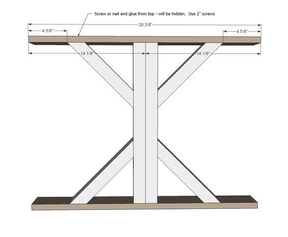 Farmhouse Table, Farmhouse And Easy Diy Projects On Pinterest