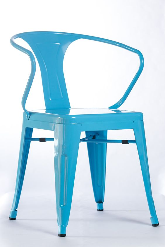 "Acier T Chair - Sky Blue 21"" x 22.5""x 31"""