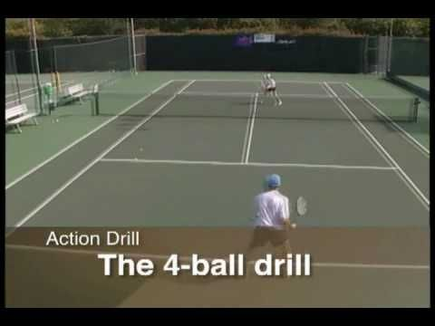 Tennis Drills How To Increase Intensity With The 4 Ball Drill Tennis Instruction Learntoplaytennis Tennis Lessons Tennis