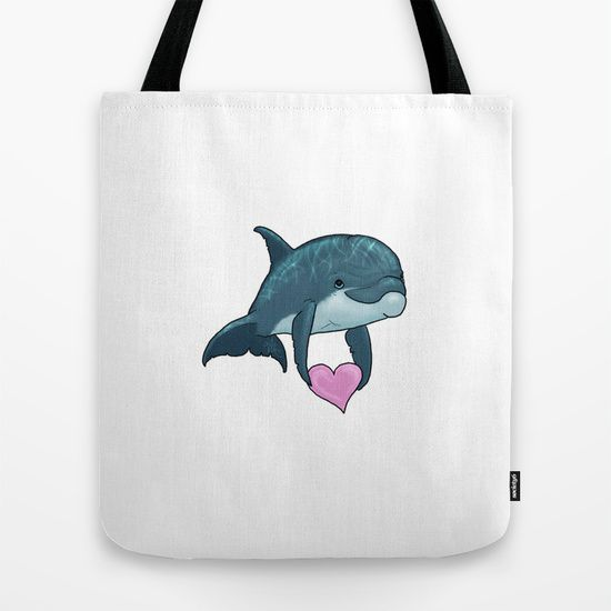 Dolphin Art / Cute / Love / Valentine Heart
