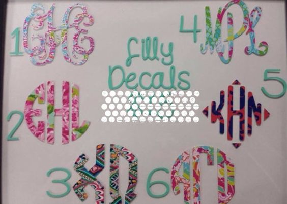 Lily Pulitzer Inspired Car Decal Lily Preppy Decal by christylous