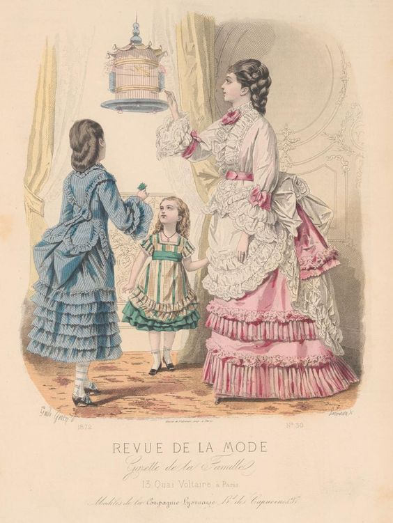 revue de la mode 1872 1872s fashion plates pinterest girls la mode and little girl dresses. Black Bedroom Furniture Sets. Home Design Ideas