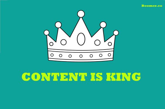 Content is king -boomer-marketing