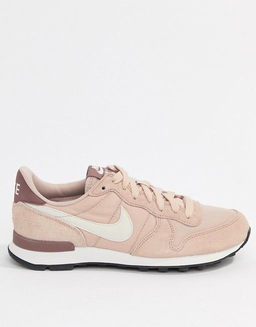 nike blush internationalist suede trainers