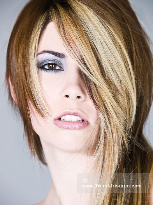 LEE STAFFORD Lange Blonde weiblich Gerade Farbige Frauen Haarschnitt Poker-gerade Frisuren hairstyles