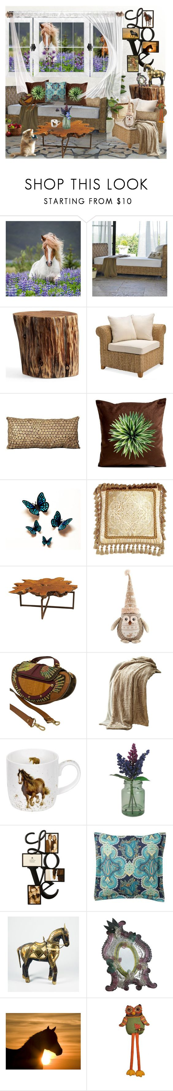 """""""For the love of horses"""" by amara-m-hafeez ❤ liked on Polyvore featuring interior, interiors, interior design, home, home decor, interior decorating, Pottery Barn, Mina Victory, Isabella Collection and Fendi"""