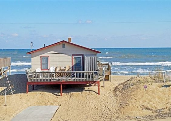 Perfect for a smaller vacation party, Ocean Dreams is a pet friendly rental in Kitty Hawk right on the ocean.