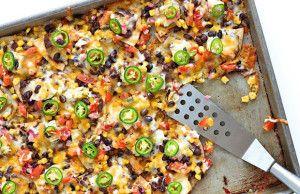 Sheet Pan Chicken and Black Bean Nachos | The BakerMama