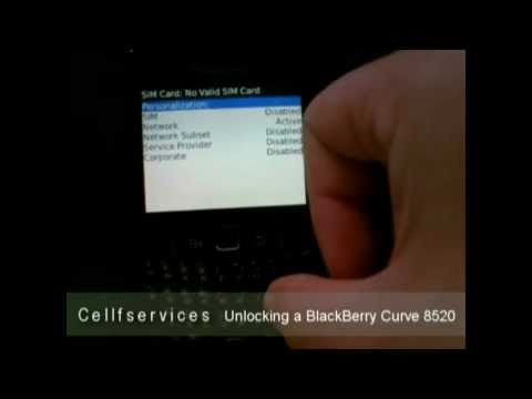 How to Unlock BlackBerry Curve 8520 with Unlock Code