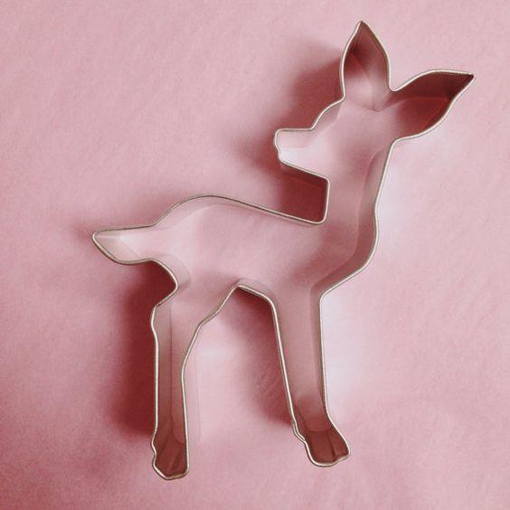 baby deer cookie cutters and deer on pinterest