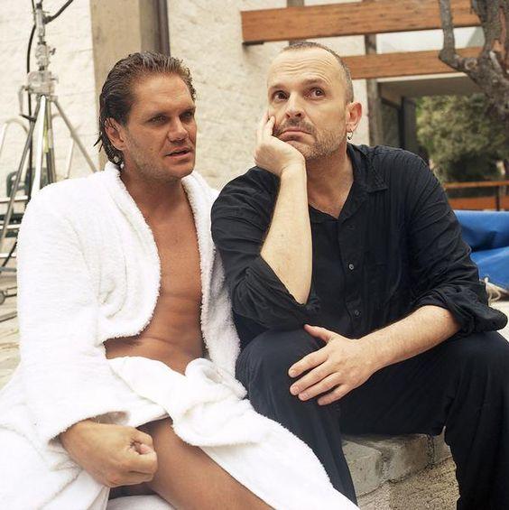 Miguel Bosé con Nacho Vidal