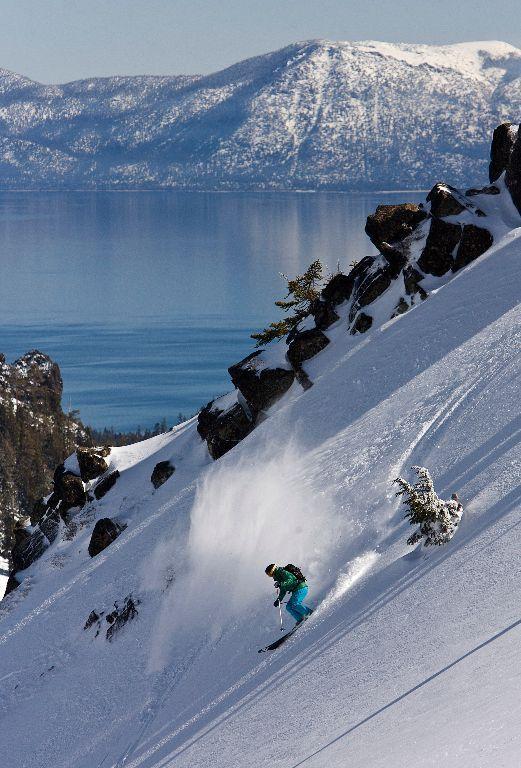 Alpine Meadows ski area, CA - my favorite ski resort at Tahoe #wintersports #teebanger
