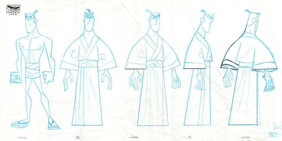 Samurai Jack by Dexter Smith ★ || CHARACTER DESIGN REFERENCES (pinterest.com/characterdesigh) • Do you love Character Design? Join the Character Design Challenge! (link→ www.facebook.com/groups/CharacterDesignChallenge) Share your unique vision of a theme every month, promote your art, learn and make new friends in a community of over 12.000 artists who share the same passion! || ★: