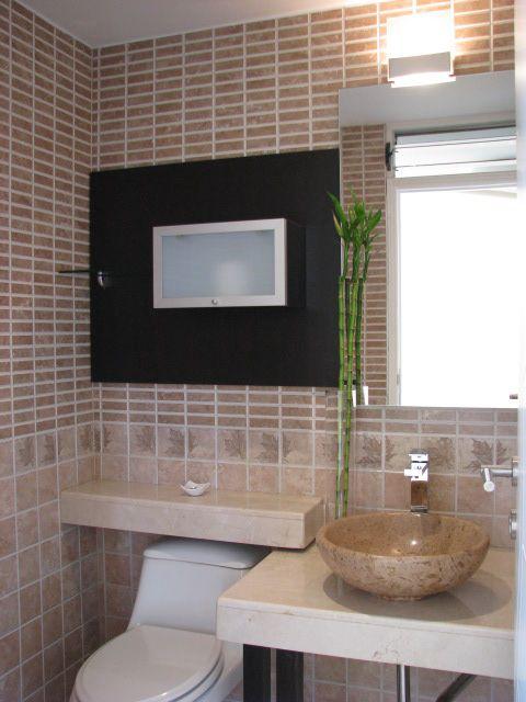 Ba o pieza de lavamanos en piedra con grifer a en acero - Lavamanos de piedra ...