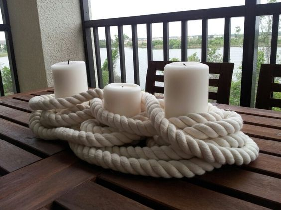 Nautical Candle Centerpiece for island or possibly food table????