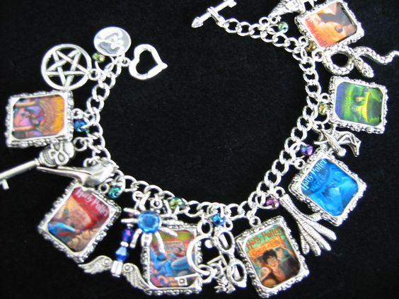 harry potter charm bracelet all 7 book cover photo charms