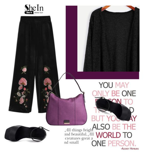 """Shein"" by sweet18569 ❤ liked on Polyvore featuring Borbonese and WALL"