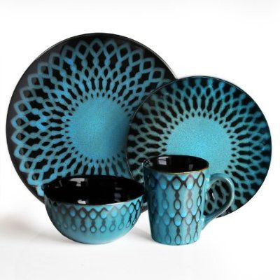 Purchase the  American Atelier Sicily 16-Piece Dinnerware Set, Blue at charingsingskitchen.com