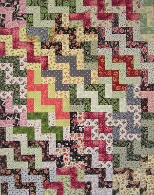 Karen Griska Quilts: Rail Fence Quilt rom StairStep Quilts pattern.  I own it.  now sew it.