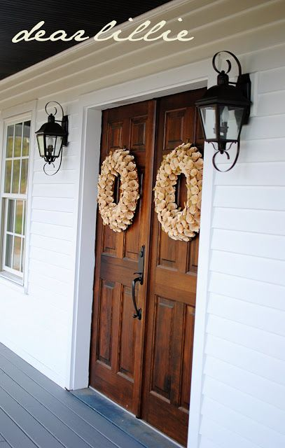 Jamie and Josh's House by Dear Lillie love the double front doors
