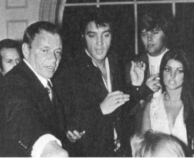 (new image) Elvis and Cilla with Frank and Sonny West.