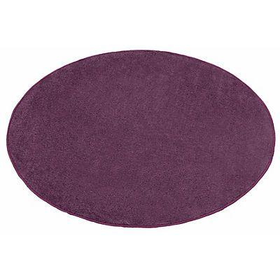 Teppich, Rund, Hanse Home, »Shashi«, einfarbig, Kurzflor, getuftet in Lila im…