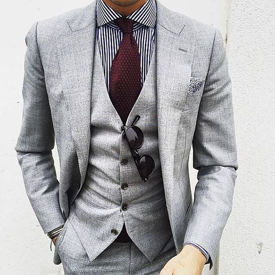 Gray suit with pops of color BilliardFactory.com: