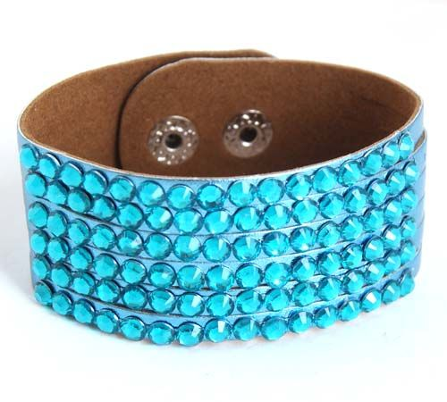Fashion Leather Crystal Jewelry Bracelets wholesale Handmade Elegant girls al