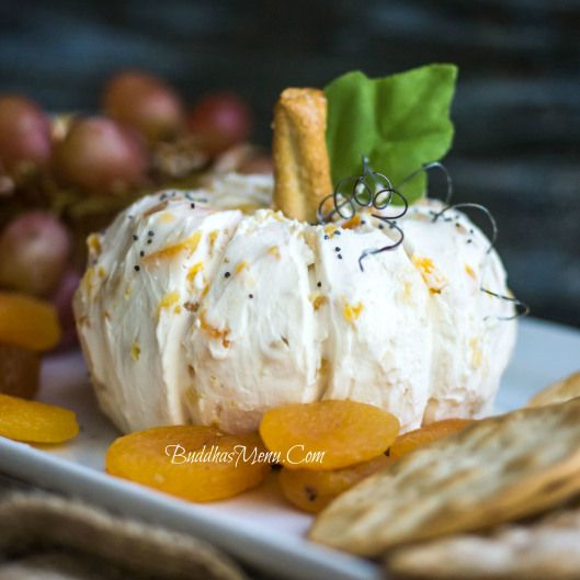 Apricot Cream Cheese Pumpkin (Use a #GF Pretzel as stem)