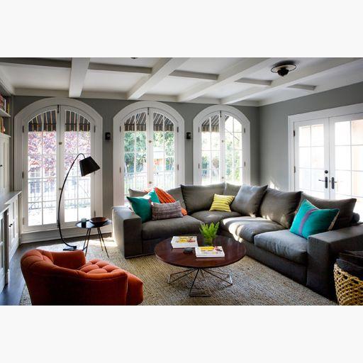 nickey kehoe nk shop coffee table deep gray walls lots of casual living room lots