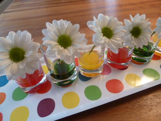 Experiment Blumen färben