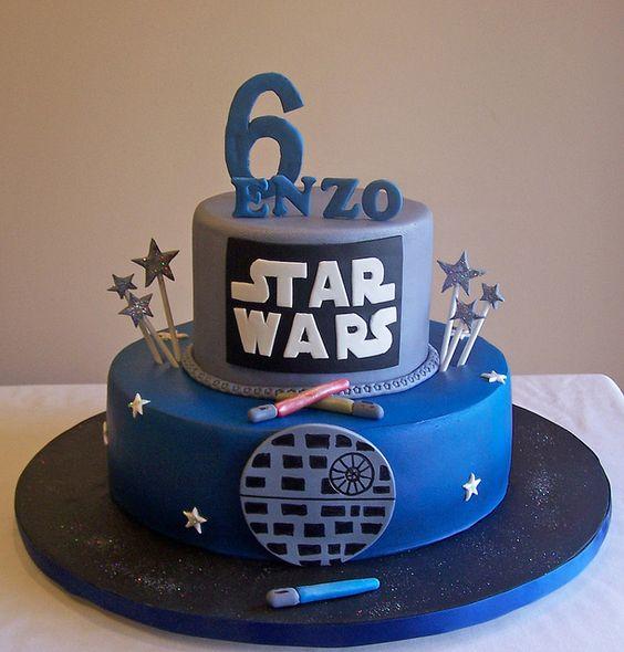 Star Wars birthday.  The cake.: Cakes Boyish, Star Wars Birthday, Boys Birthday, Kids Cakes, Stars Wars, Star Wars Cake, Cakes N Cookies, Kids Birthday Cakes, Cakespace Beth