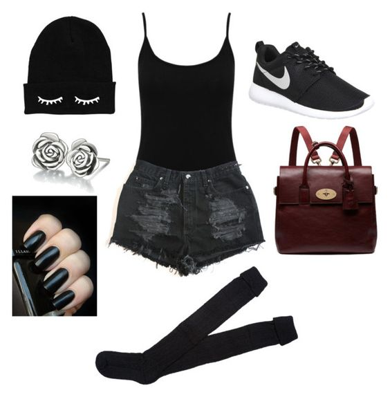 """""""Untitled #218"""" by lexaisbae on Polyvore featuring M&Co, NIKE, Mulberry and Chamilia"""