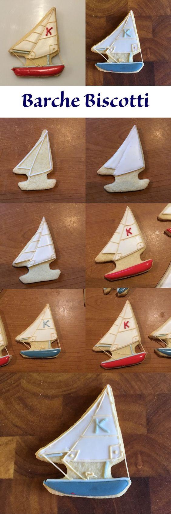 Come decorare un biscotto a forma di Barca a Vela