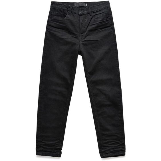 Alexander Wang Wang 003 Boy Fit (17.545 RUB) ❤ liked on Polyvore featuring jeans, black, leather jeans, destroyed jeans, tapered jeans, distressed jeans and alexander wang
