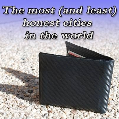 The most and least honest cities in the world - based on an experiment by Reader's Digest