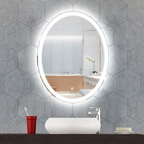 Luvodi Miroir Salle Bain 60x80 Cm Avec Eclairage Integre Miroir Mural Lumineux Anti Buee Avec L Miroir Salle De Bain Miroir Mural Lumieres Miroir Salle De Bain