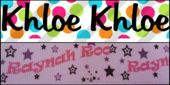 Bowtique hair bows personalized with your childs name, nickname, or whatever you would like! Order yours today!