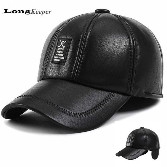 $7.97 (Buy here: https://alitems.com/g/1e8d114494ebda23ff8b16525dc3e8/?i=5&ulp=https%3A%2F%2Fwww.aliexpress.com%2Fitem%2FLongKeeper-Winter-Caps-Men-High-Quality-PU-Leather-Baseball-Caps-Black-Snapback-Bone-Golf-Logo-Hats%2F32742847963.html ) LongKeeper Winter Caps Men High Quality PU Leather Baseball Caps Black Snapback Bone Golf Logo Hats Chapeu With Earflaps HB13 for just $7.97