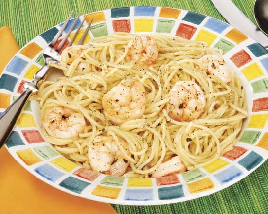 Shrimp scampi with chicken broth recipe