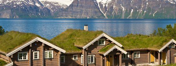 Casas típicas noruegas en Lyngen.