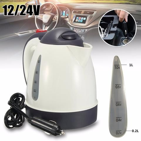High Grade 1000ml Car Portable Water Heater Travel Mains Kettle Auto 12v 24v For Tea Portable Water Heater Instant Water Heater Tankless Water Heater Electric