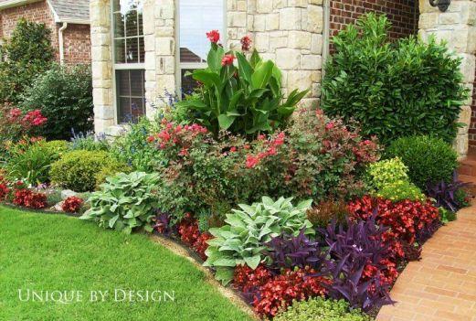 101 Best Front Flower Bed Design Ideas Decoratoo Front Yard Plants Front Landscaping Yard Landscaping