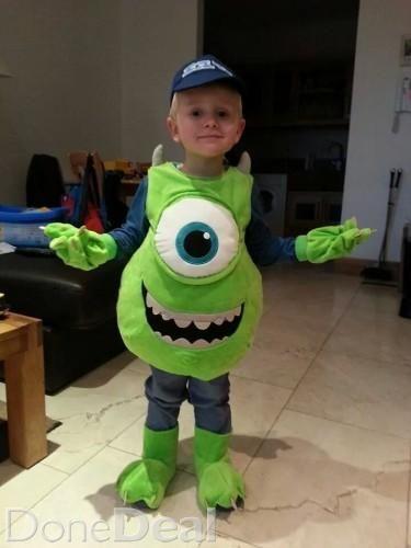 Halloween costume Mike Wazowki Once worn 3-4 years